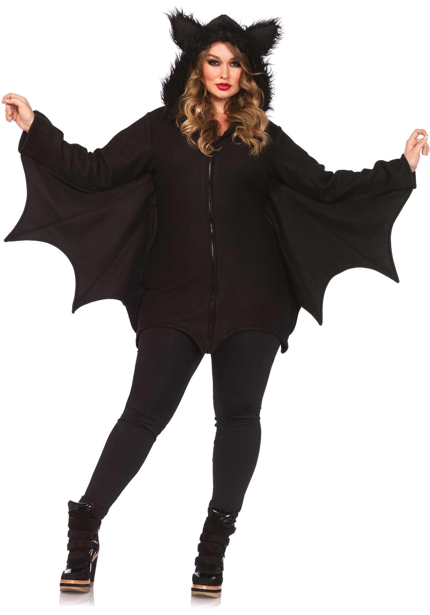 Donkere Vrouwelijke Vleermuis Jurk (Plus Size)