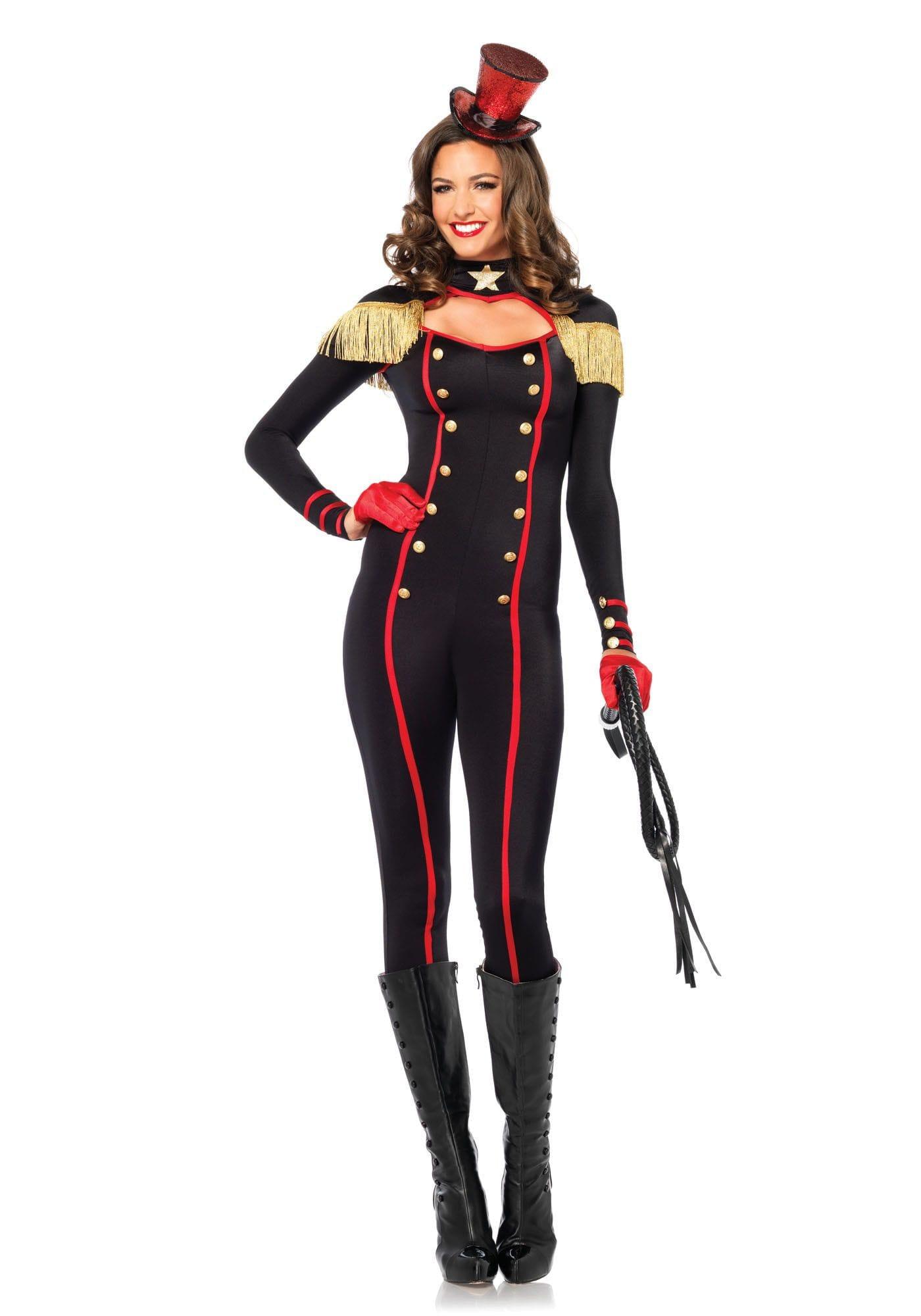 Sexy Circusdirectrice Catsuit Vrouw Kostuum