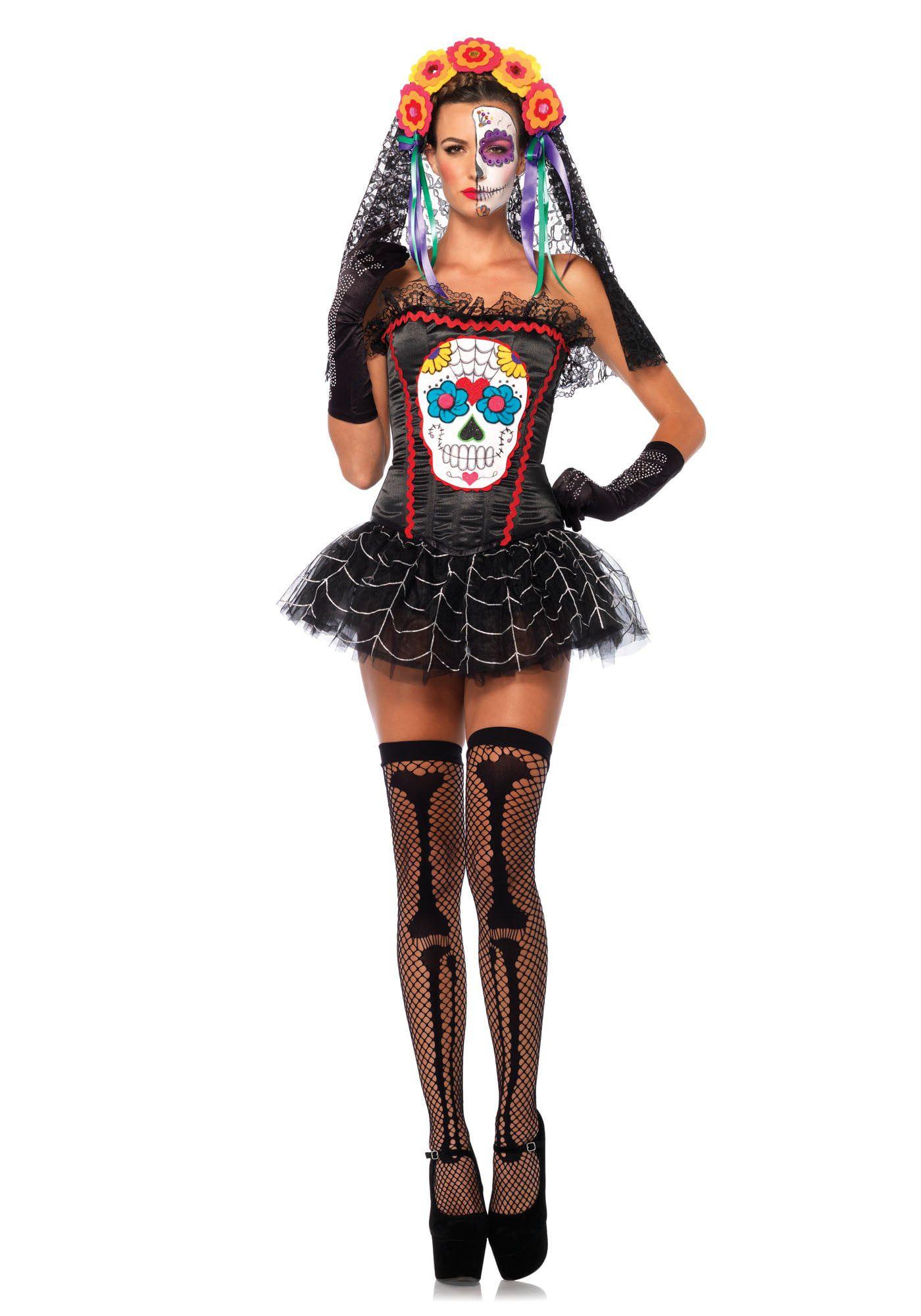 Dia De Los Muertos Halloween Bustier Vrouw