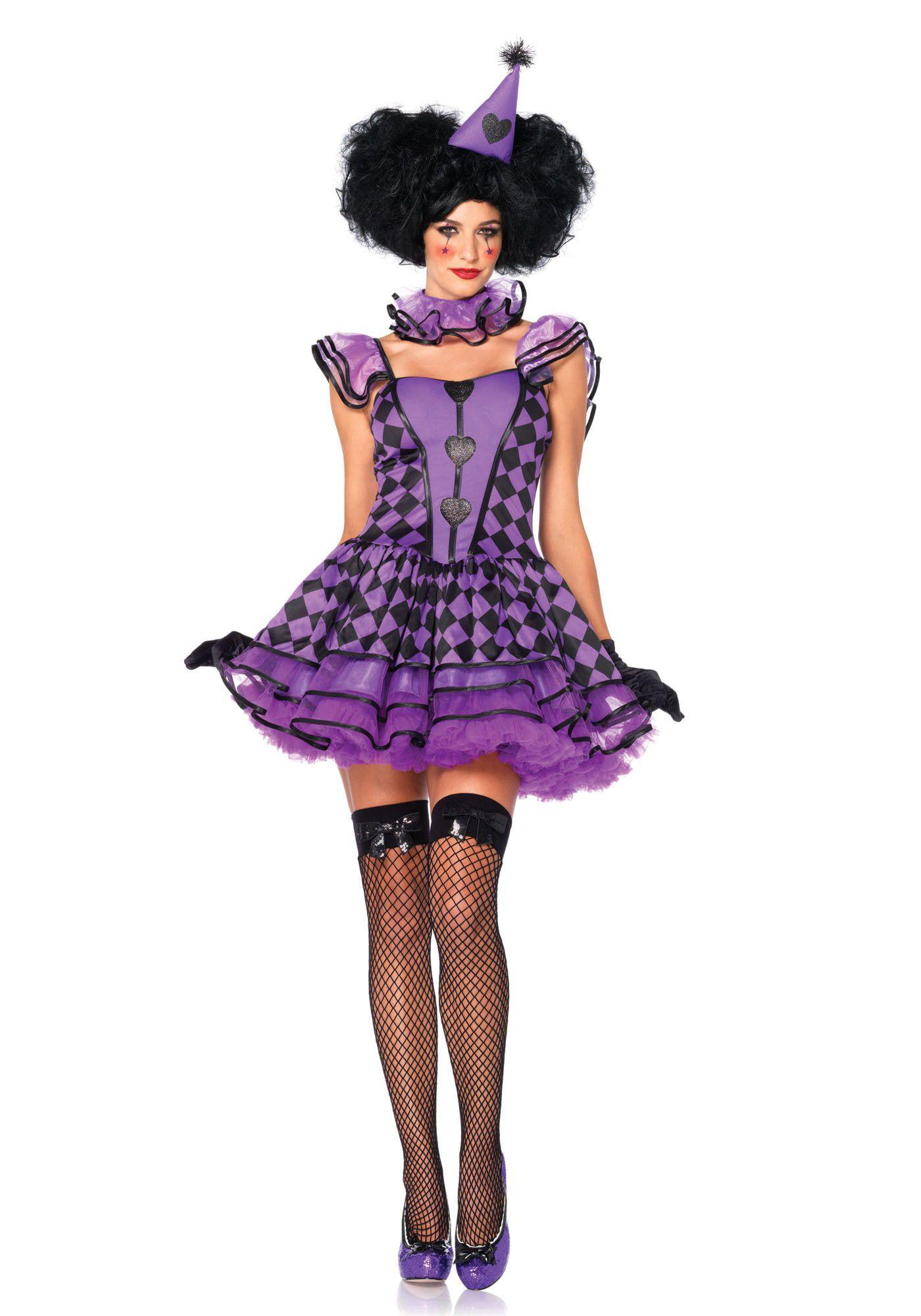 Maffe Sexy Parijse Clown Vrouw Kostuum