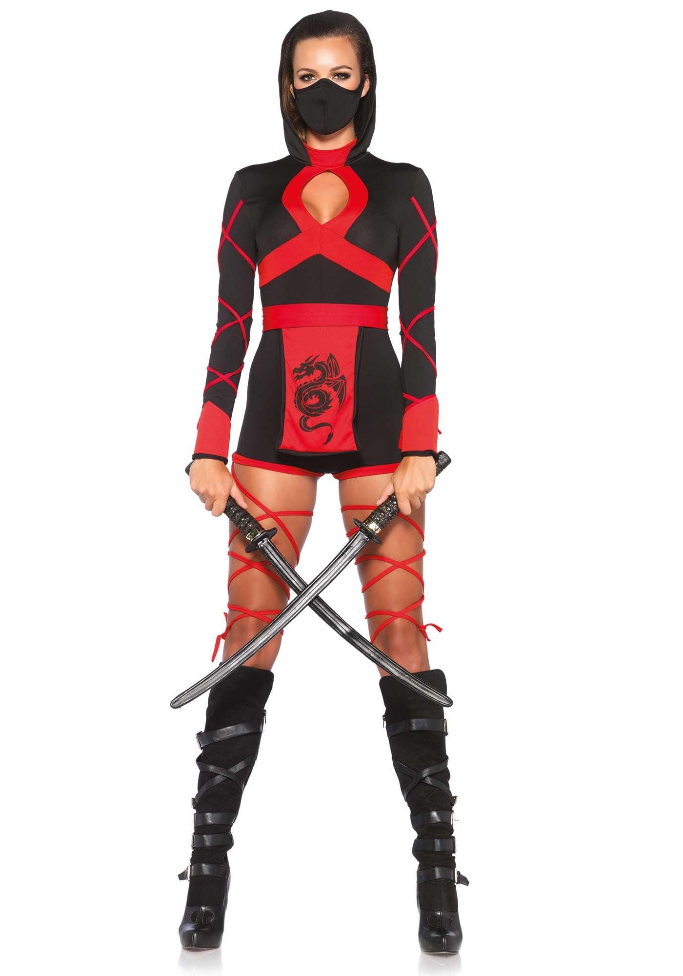 Korte Sexy Ninja Jurk Ms Kyoto Vrouw