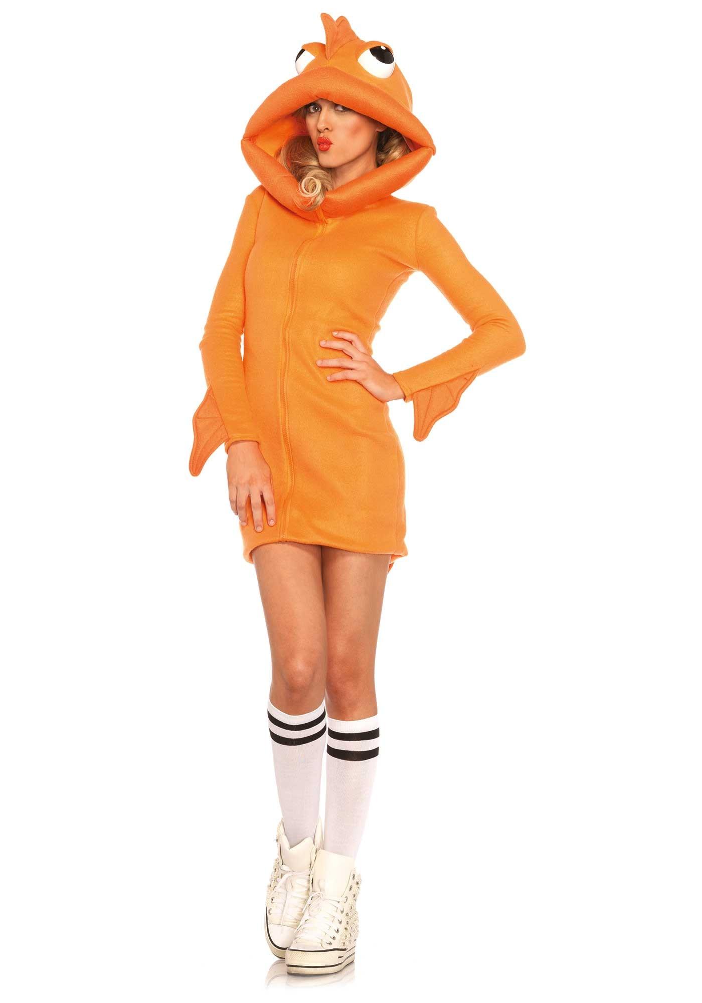 Vrouw Goudvis Hoody Kostuum