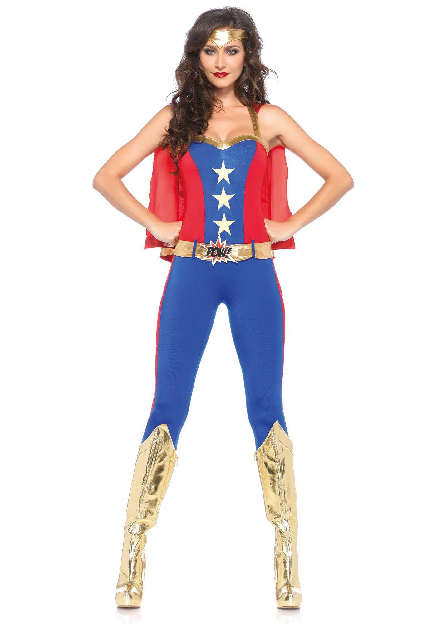 Vrouwelijke Spannende Superheldin Kostuum