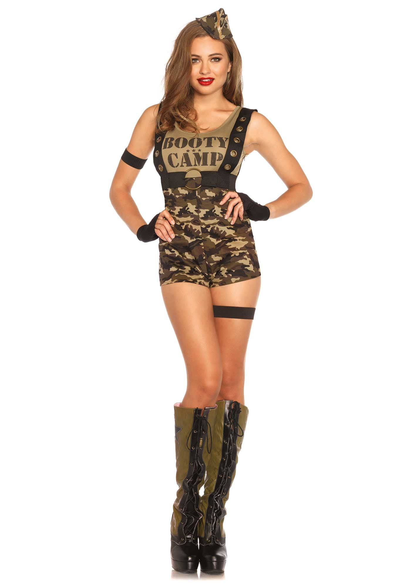 Booty Camp Sexy Soldaten Trainer Dame Vrouw Kostuum