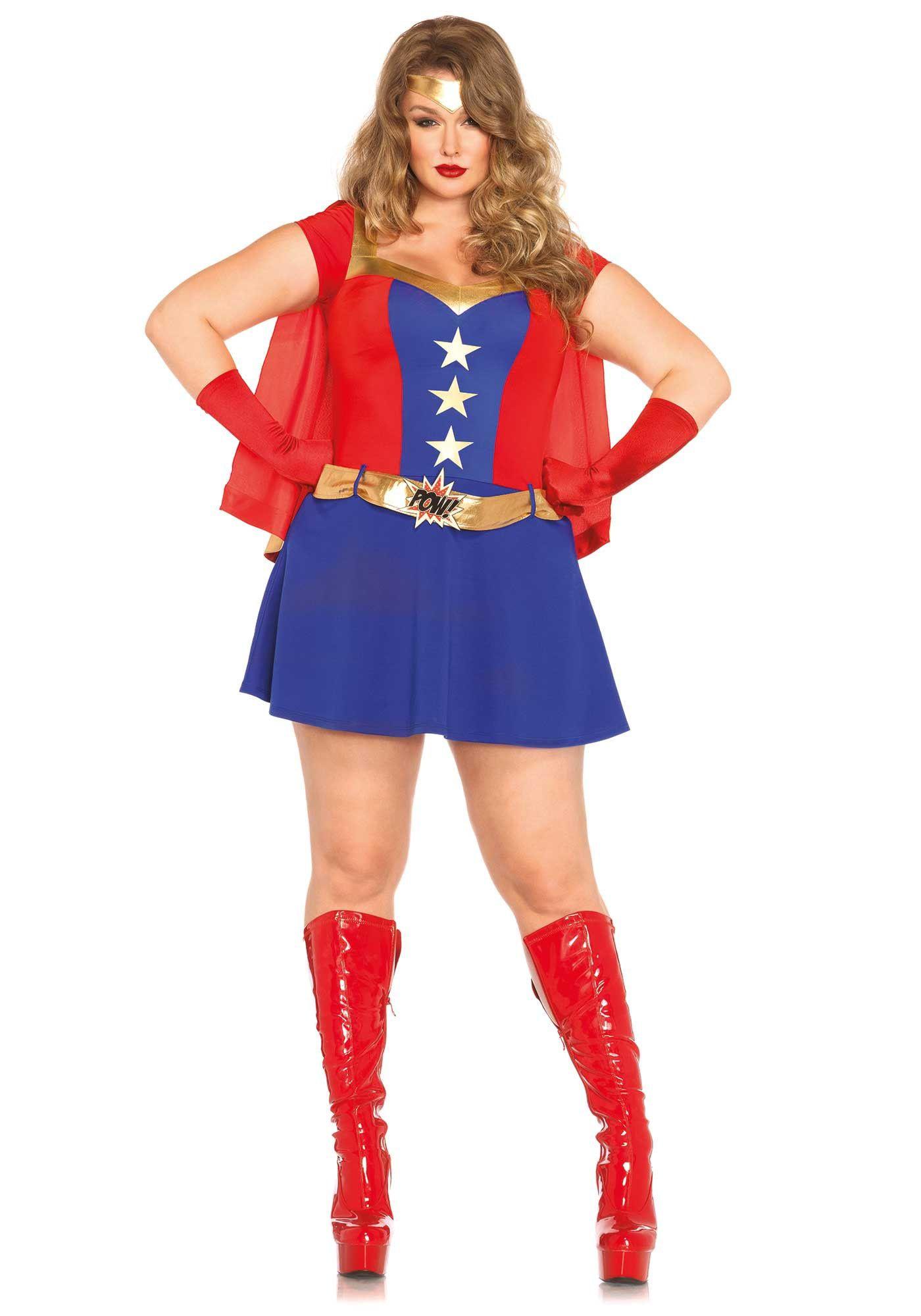 Vrouwelijke Spannende Superheldin (Plus Size) Kostuum
