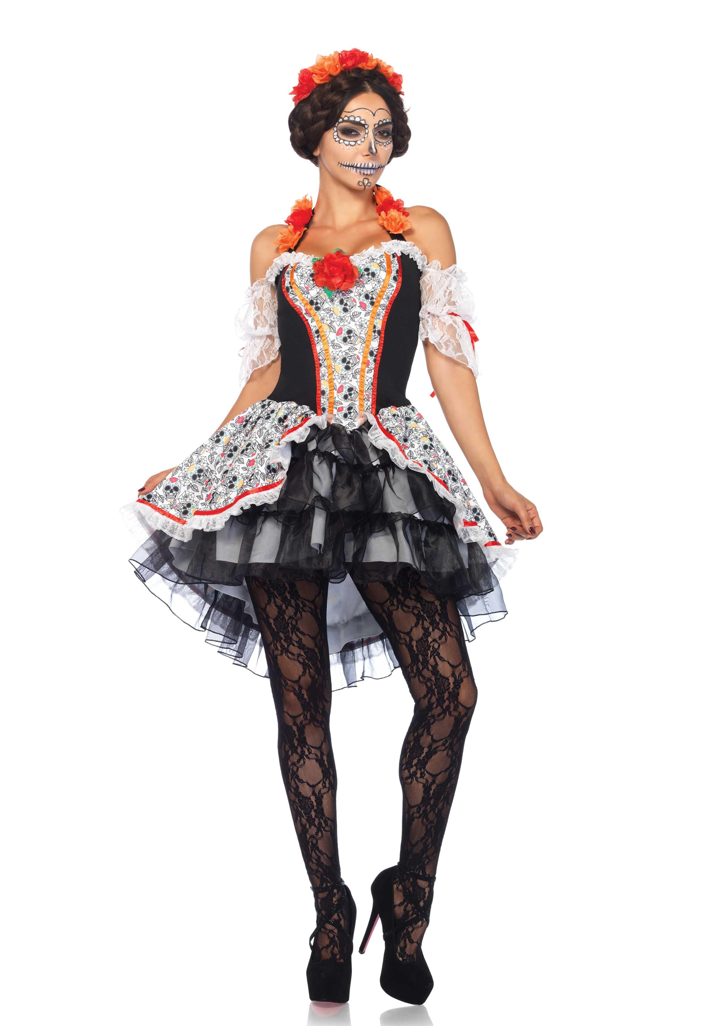 Skull Senorita Sandia Vrouw Kostuum