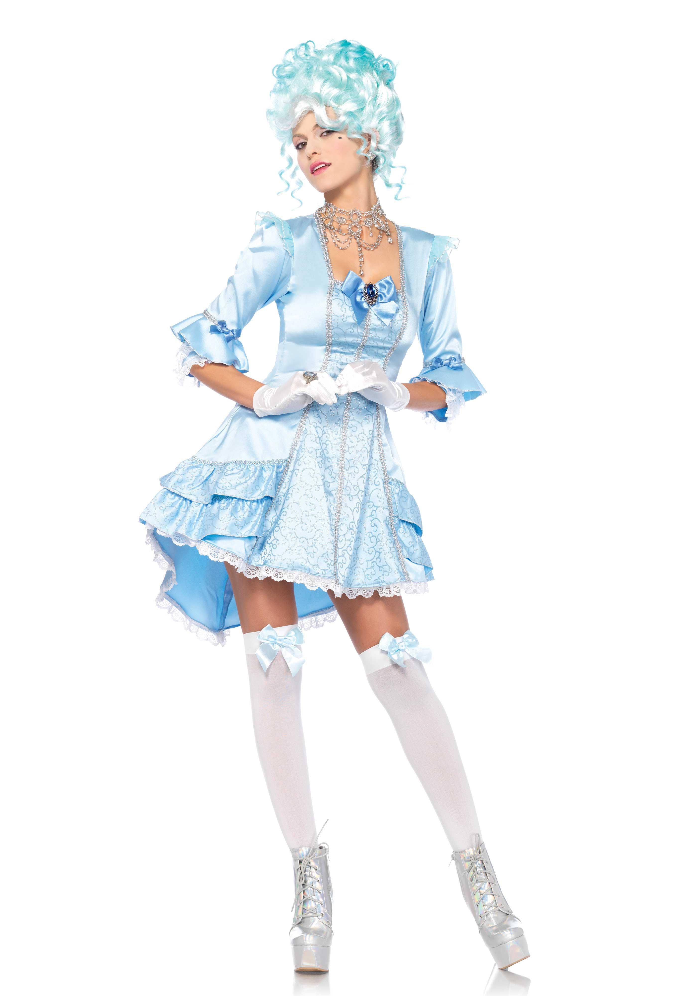 Aqua Hofdame Franse Hof Vrouw Kostuum