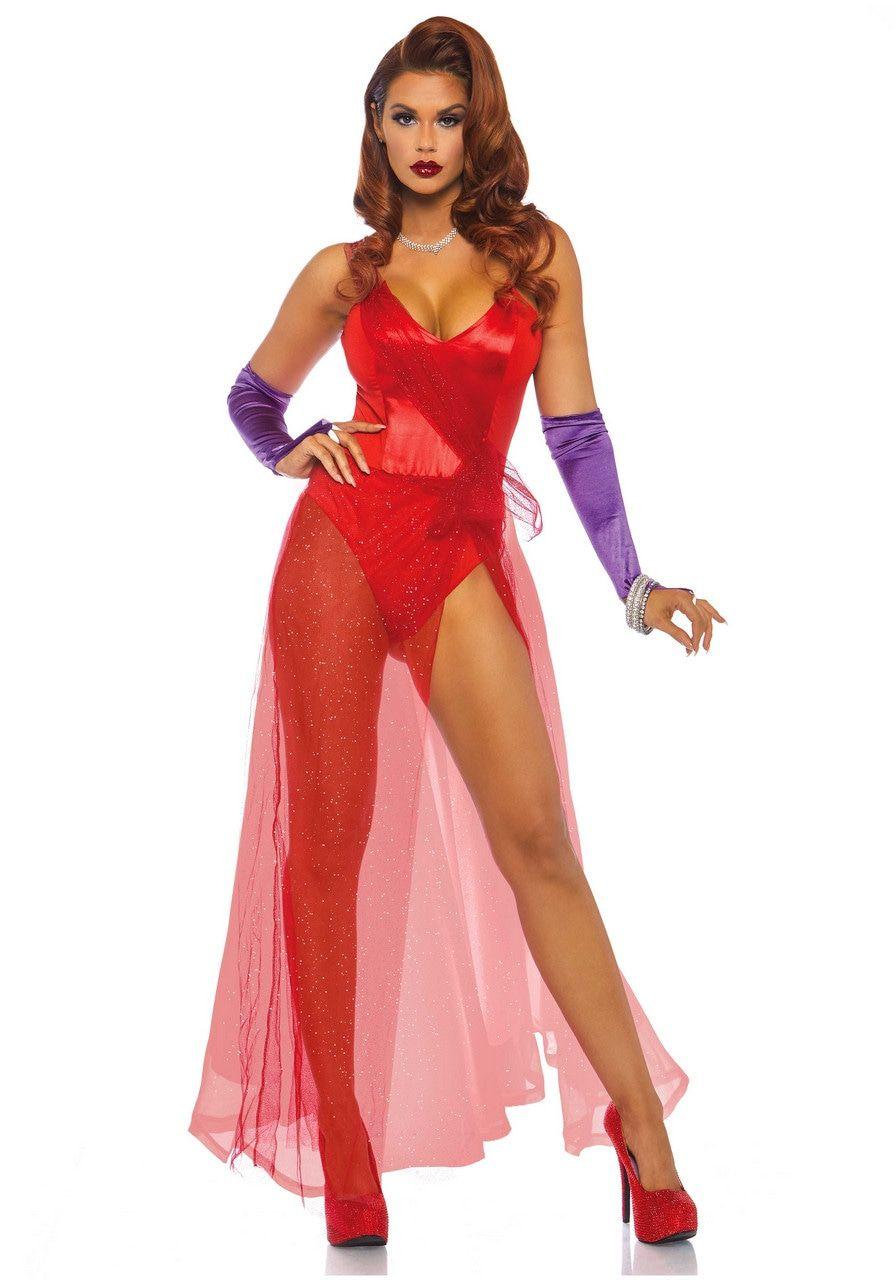 Jessica Rabbit Film Pin-Up Vrouw Kostuum