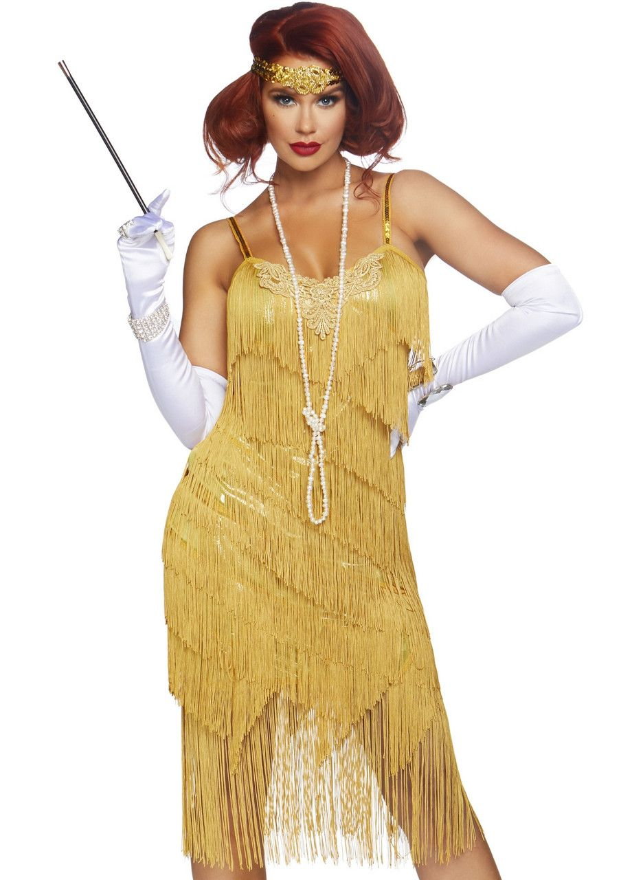 Glenda Good As Gold Charleston Flapper Vrouw Kostuum