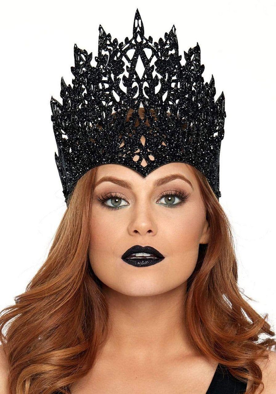 Boze Koningin Zwarte Kroon Met Glitters