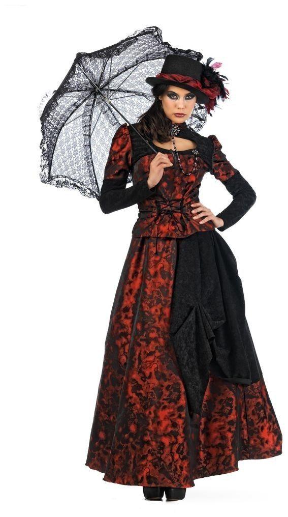 Chique Gotische Rijke Dame Boston Vrouw Kostuum