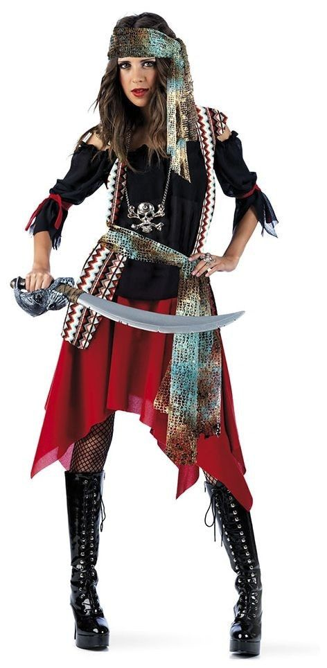 Stoutmoedige Schatzoeker Avonturier Piraat Jessica Vrouw Kostuum
