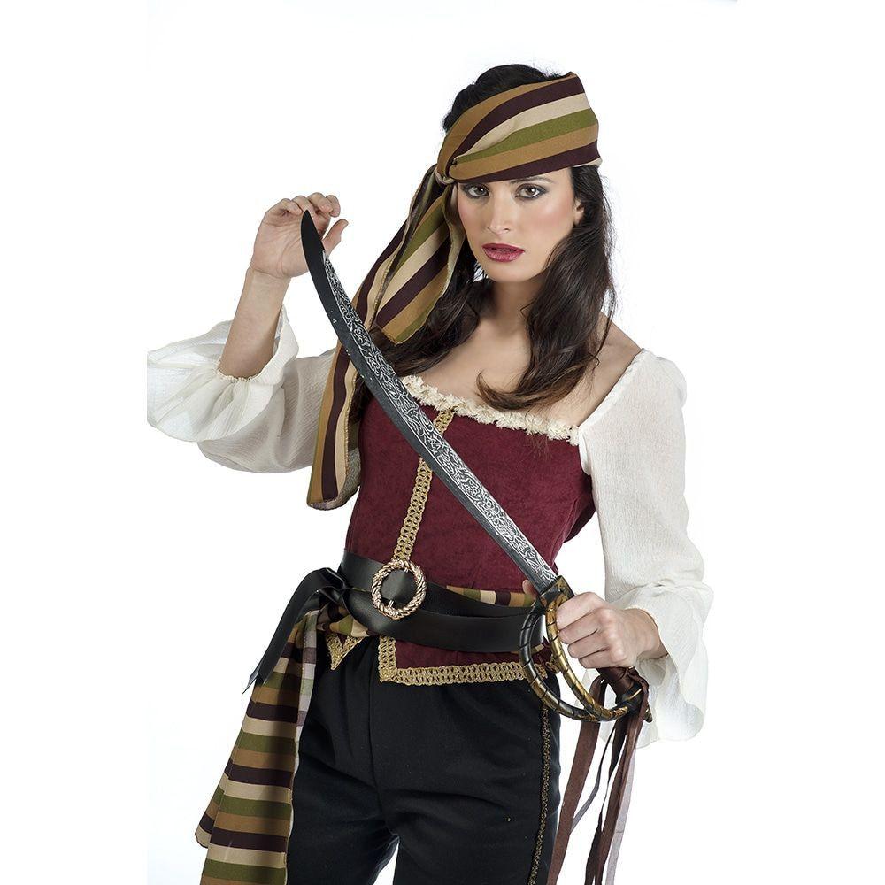 Barbara Bandana Barbaarse Kaper Piraat Vrouw Kostuum