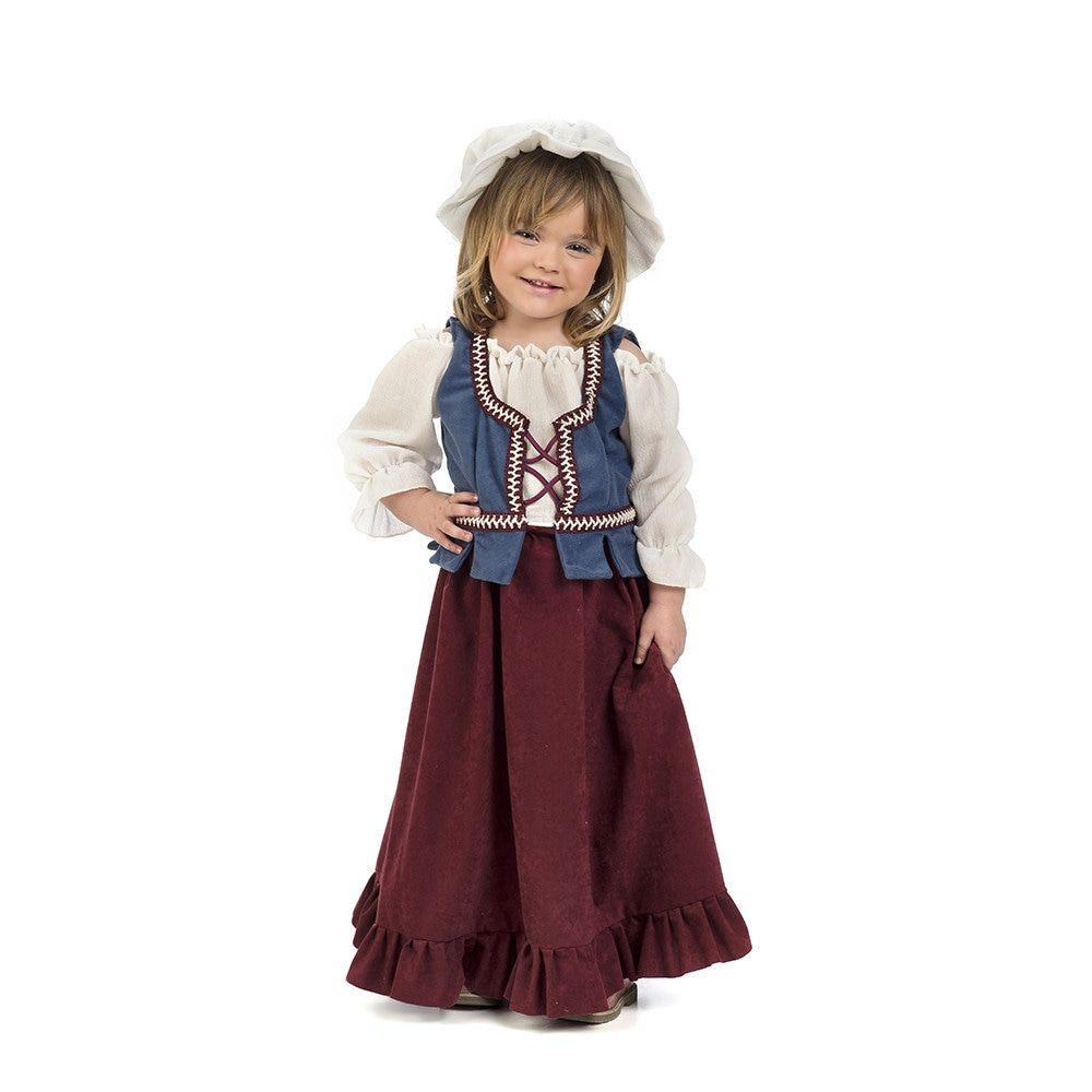 Middeleeuws Marktmeisje Marrigje Kostuum