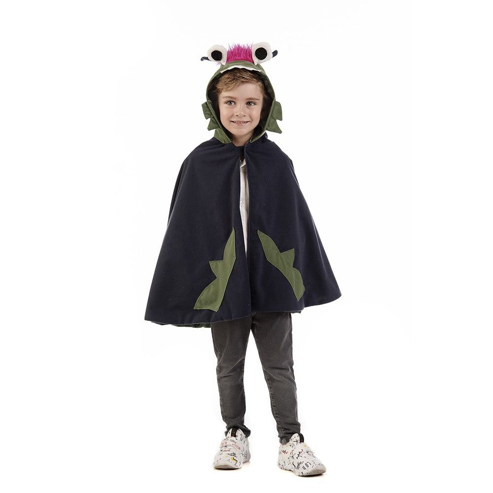 Zwart Griezelig Monster Draak Kind Kostuum