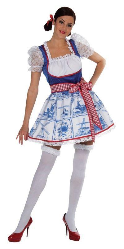 Sexy Delfts Blauw Tegeltje Vrouw Kostuum