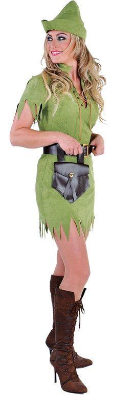 Robina Hood Held Van Het Bos Vrouw Kostuum