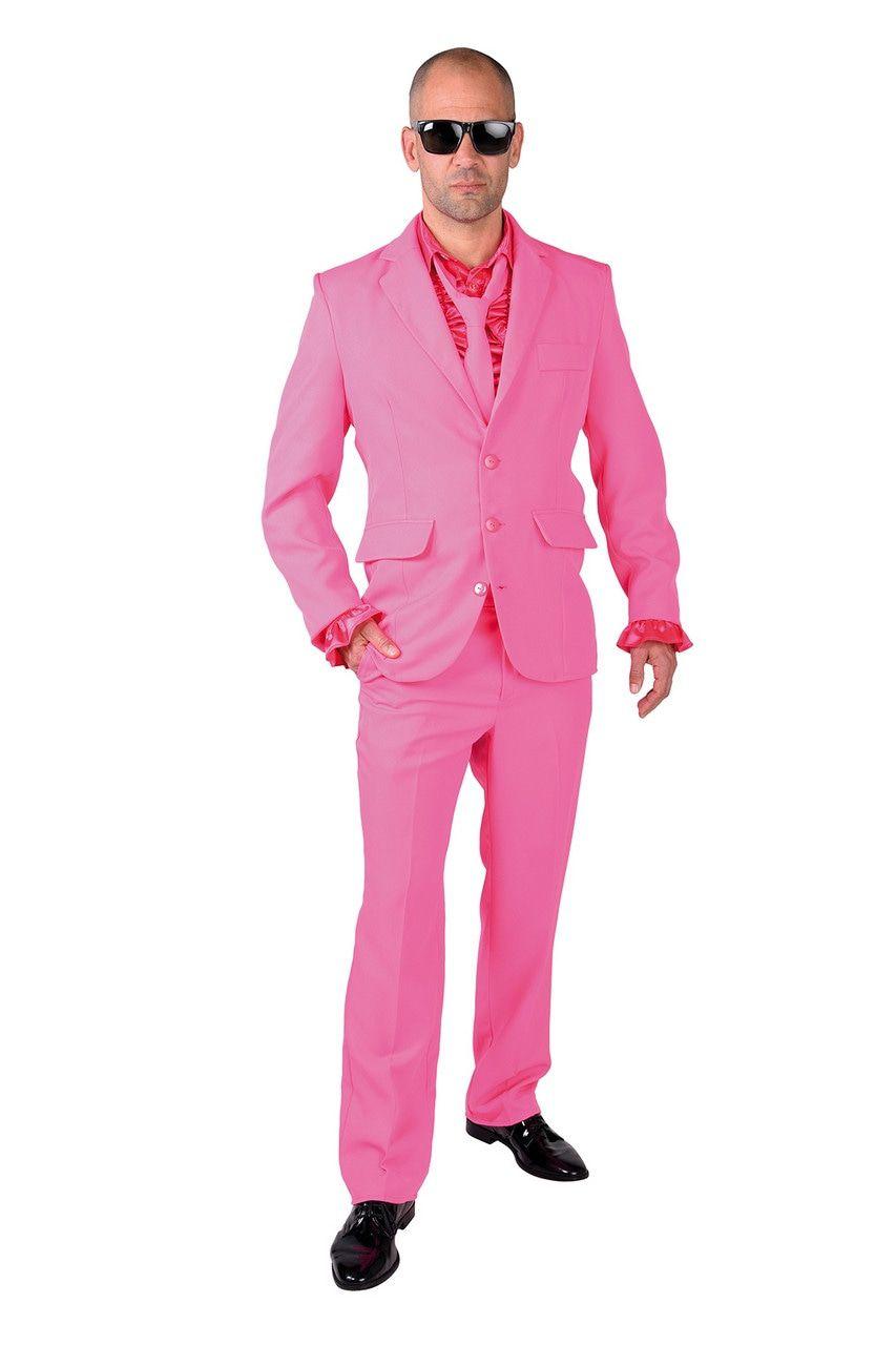 Cool Men In Pink Man Kostuum