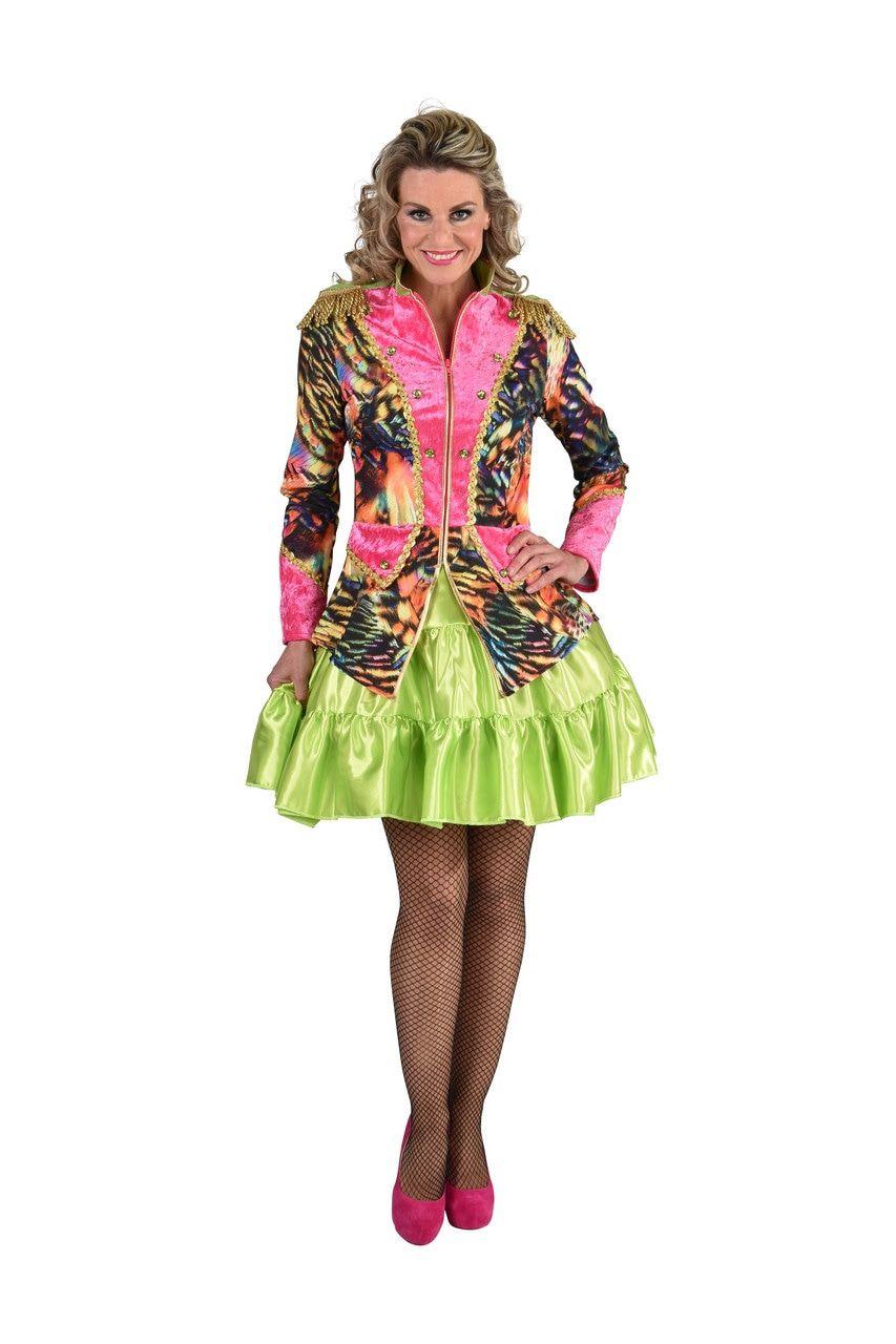 Jas Neon Disco Tijger Vrouw