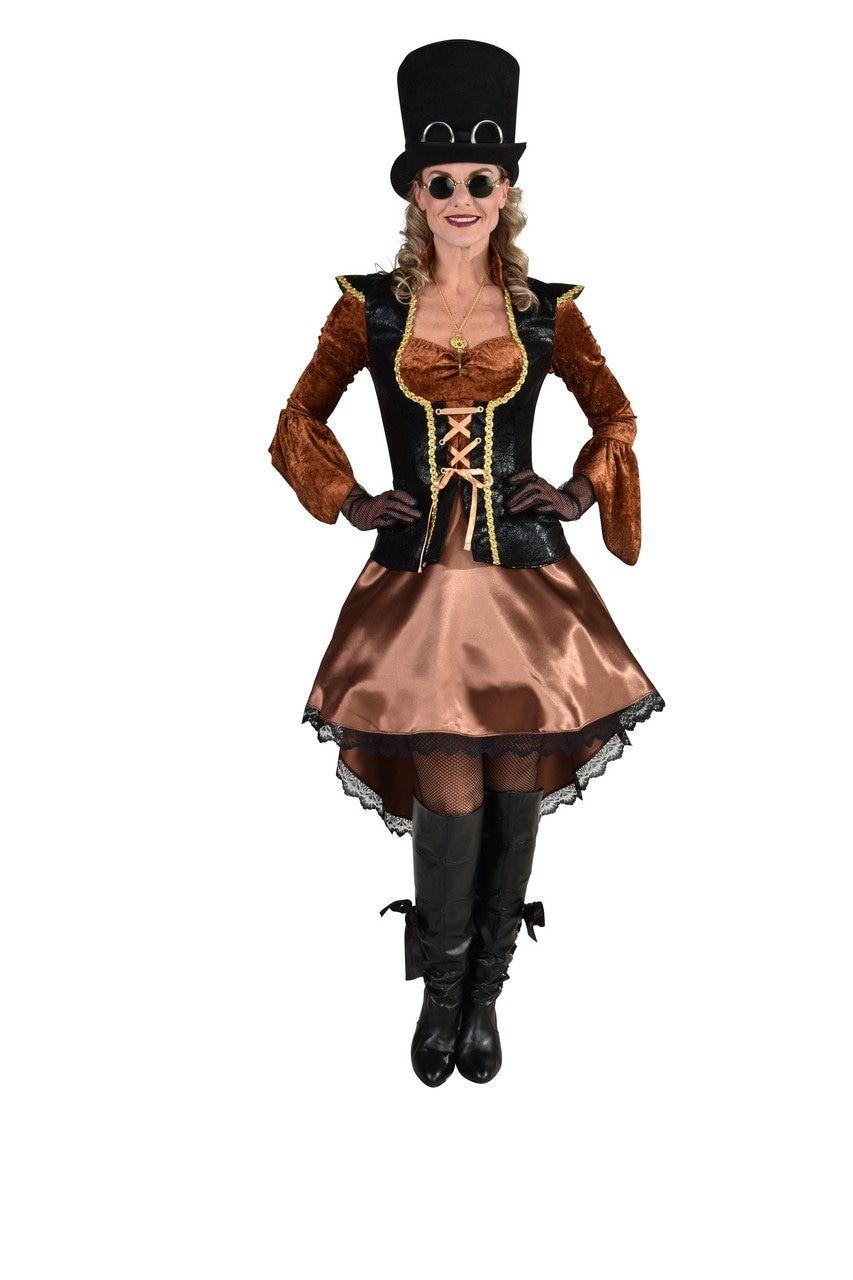 Steampunk Piraat Kapitein Karin Vrouw Kostuum