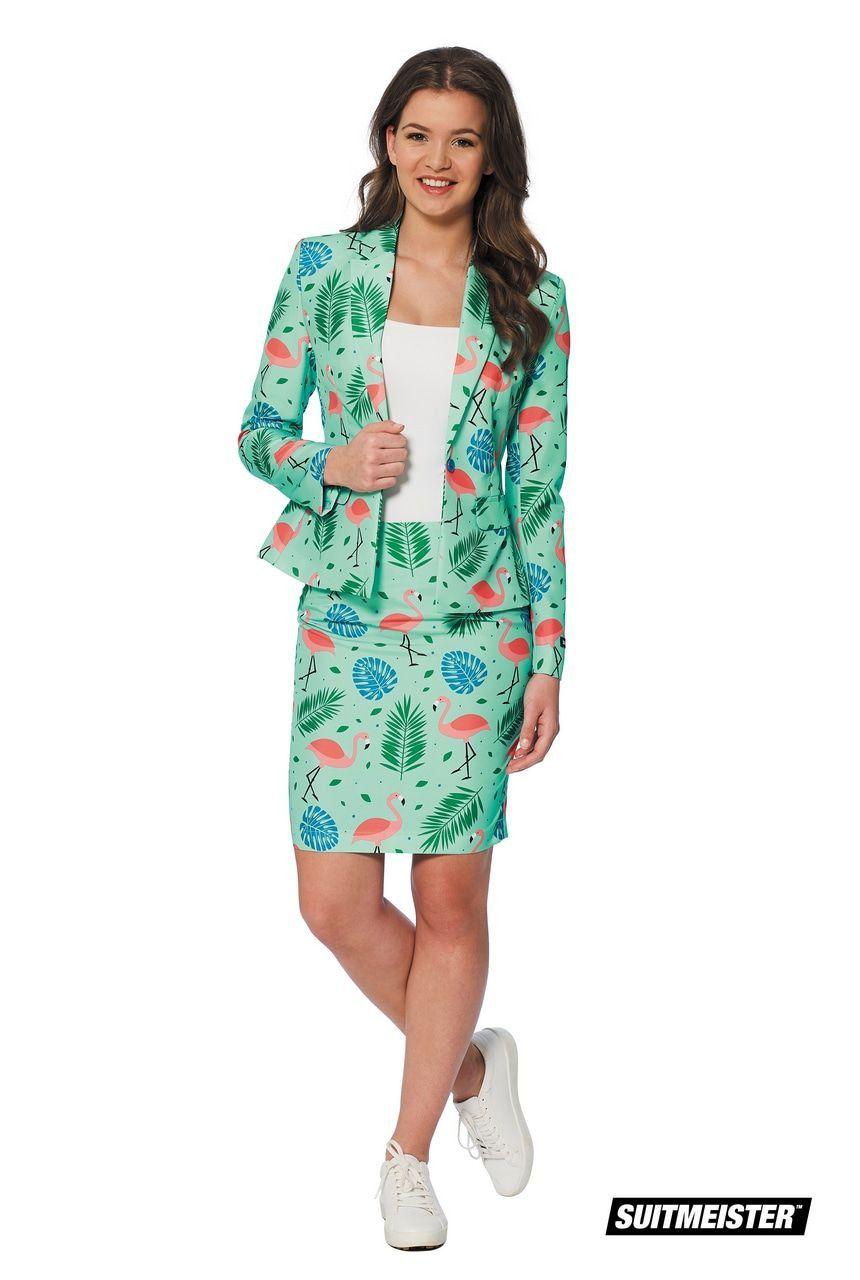 Tropische Varens En Flamingos Vrouw Kostuum