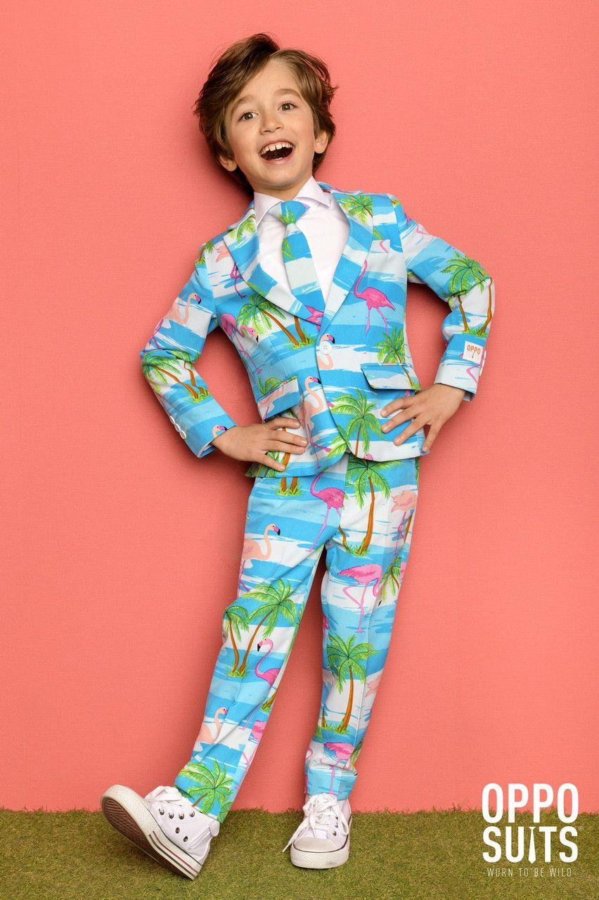 Tropisch Flaminguy Jongen Kostuum