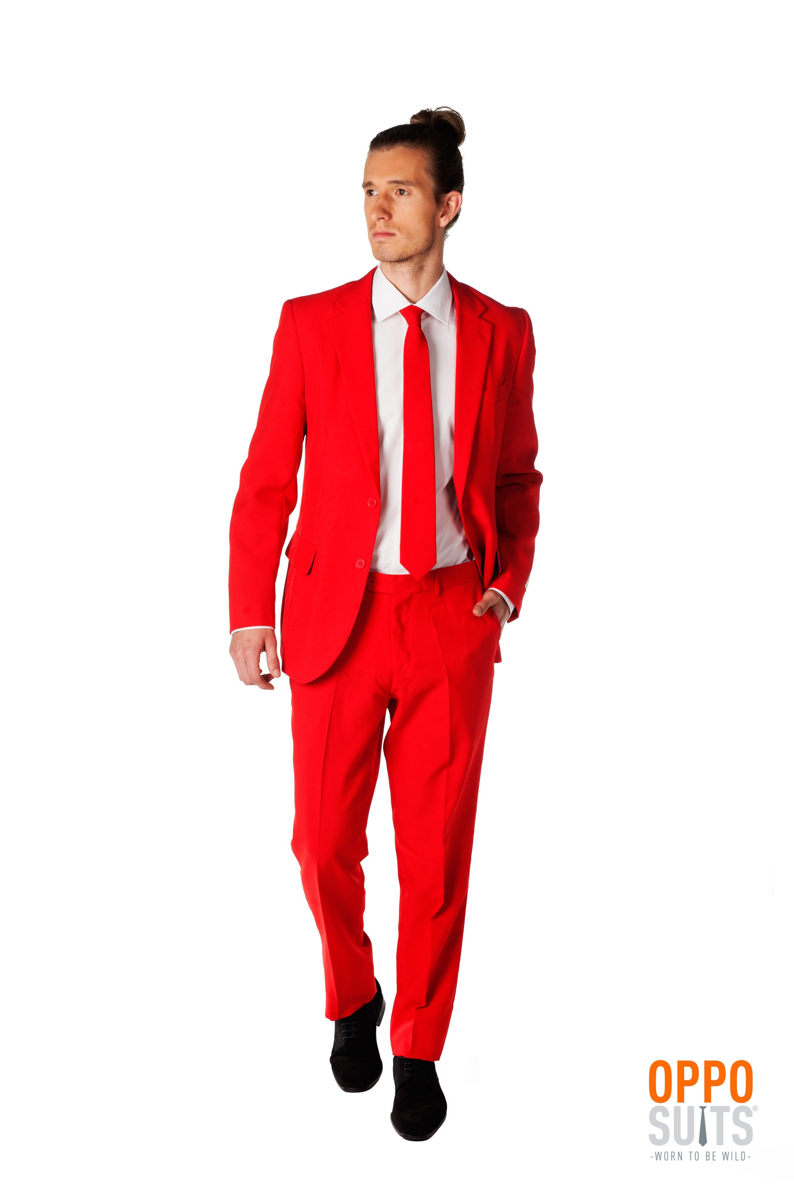 Intense Red Devil Opposuit Kostuum Man