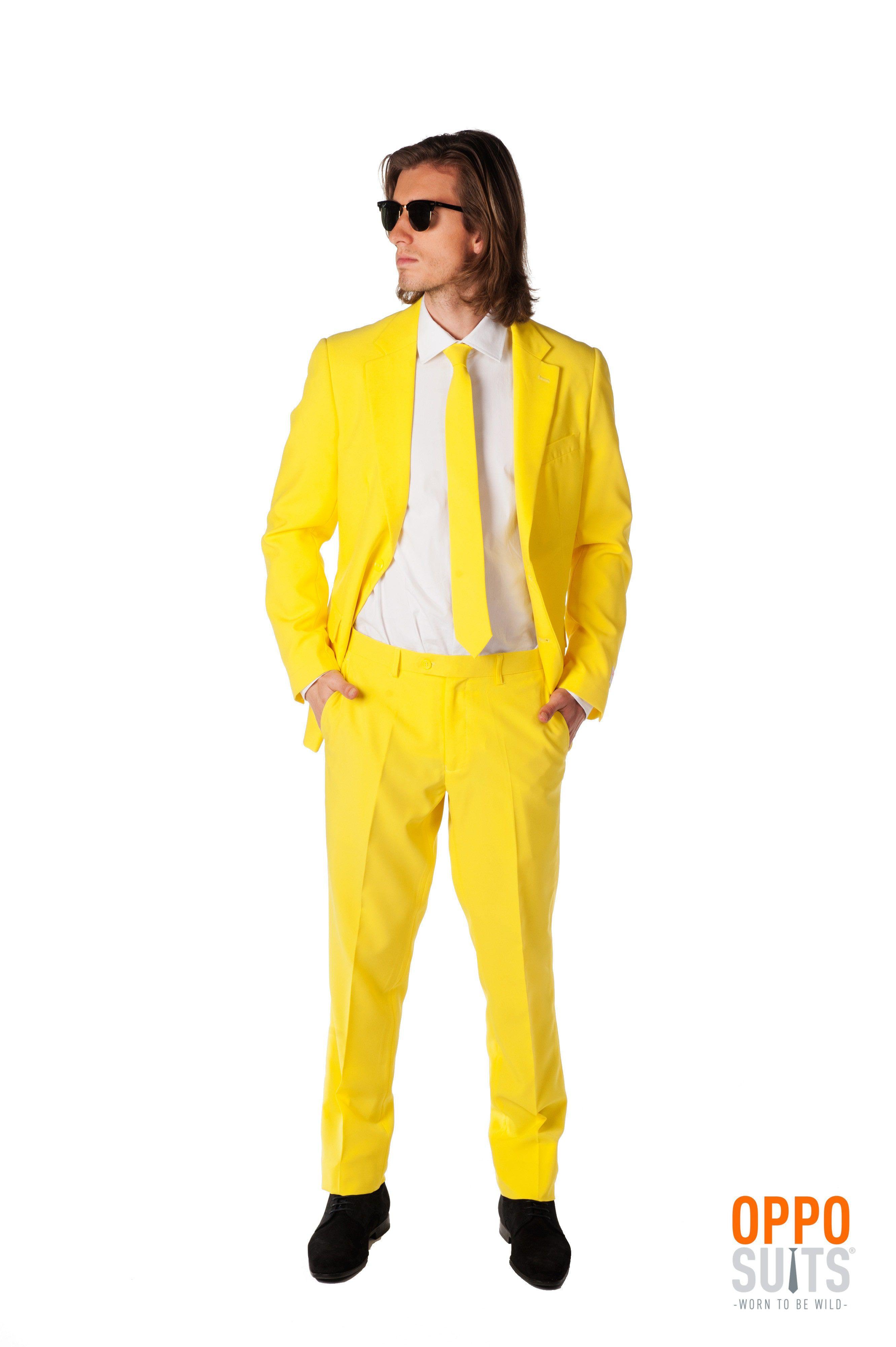 Geel Yellow Fellow Opposuit Kostuum Man