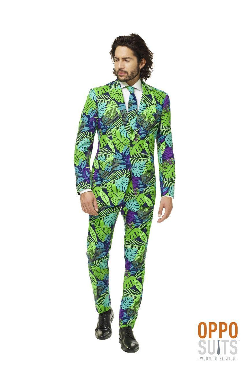 Juicy Jungle Tropische Varens Man Kostuum