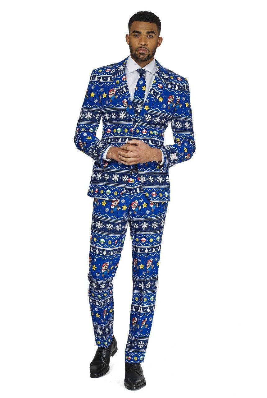 Merry Mario Kerst Computerspel Man Kostuum