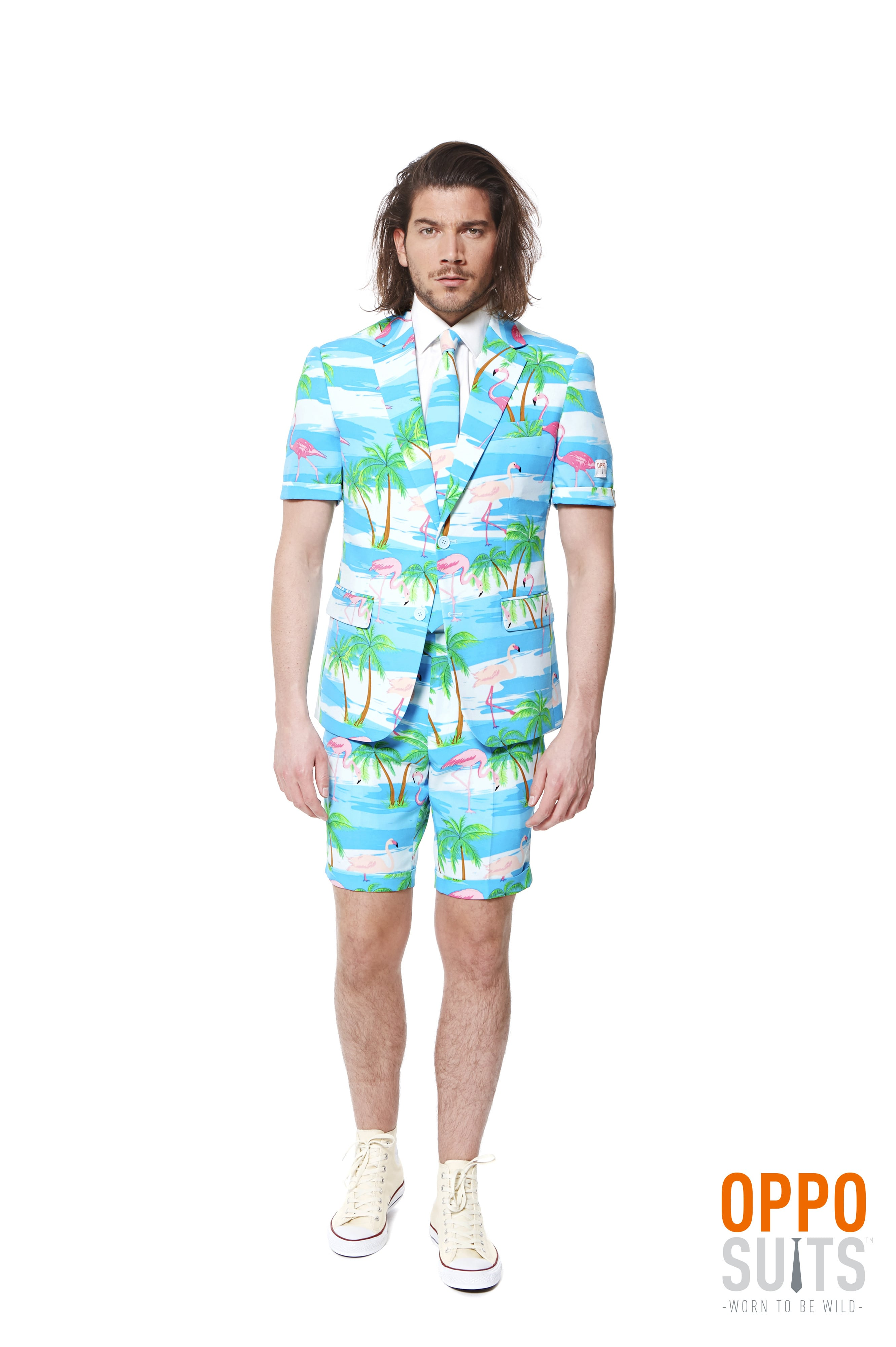 Summer Festival Miami Flaminguy Opposuits Man Kostuum