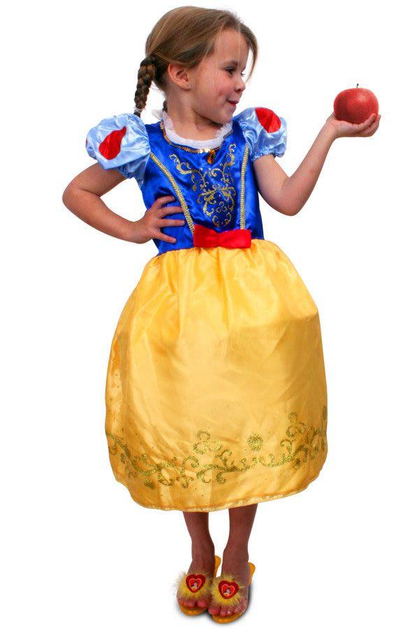 Prinses Blauw-Geel Ariane Meisje Kostuum