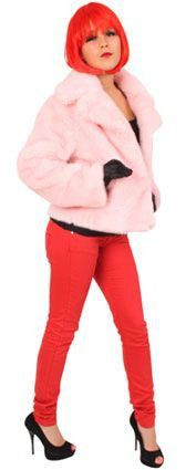 Nep-Bontjas Roze Vrouw