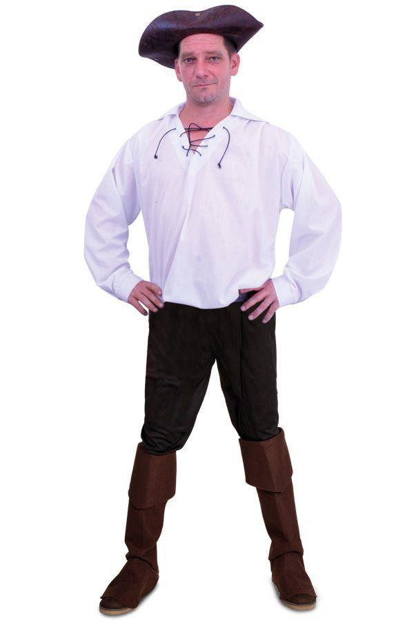 Witte Piraten Blouse Man