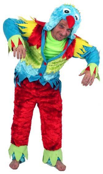 Pedro Papagaai 2delig Man Kostuum