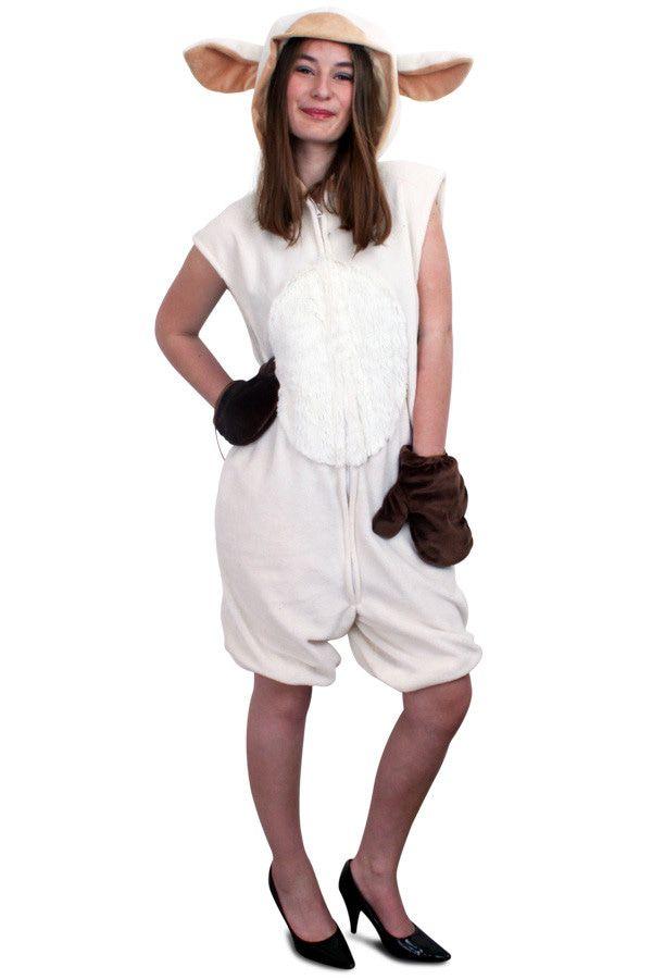 Sexy Schaap Overall Pluche Vrouw Kostuum
