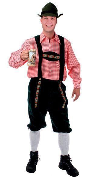 Tiroler Blouse Rood / Wit Henno Man Kostuum