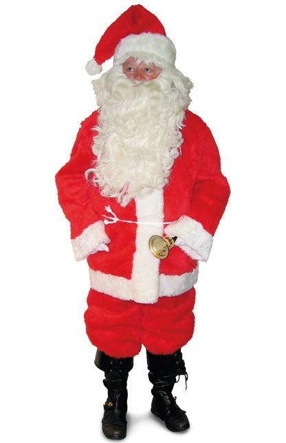 Luche Pluche 4delig Kerstman Kostuum