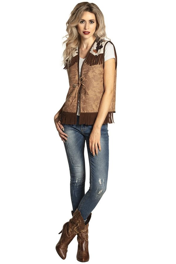 Cowboy Cowgirl Wild West Vest Koe