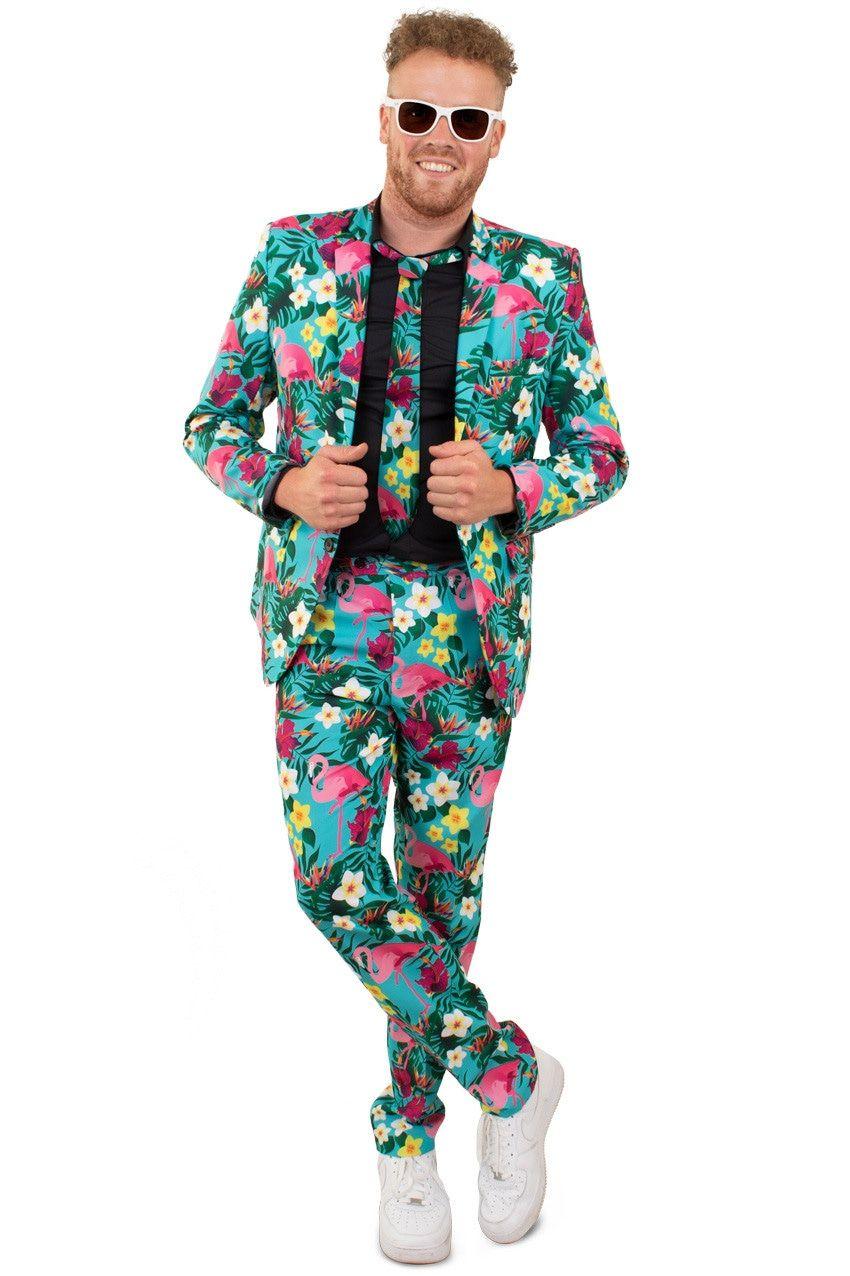 Tropische Flora En Fauna Hawaii 3delig Man Kostuum