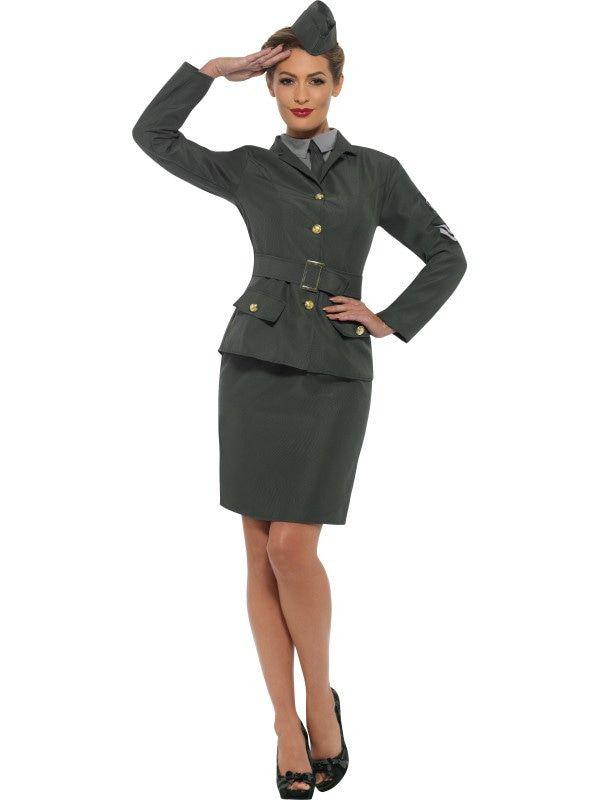 Saluut Sally Tweede Wereldoorlog Officier Vrouw Kostuum