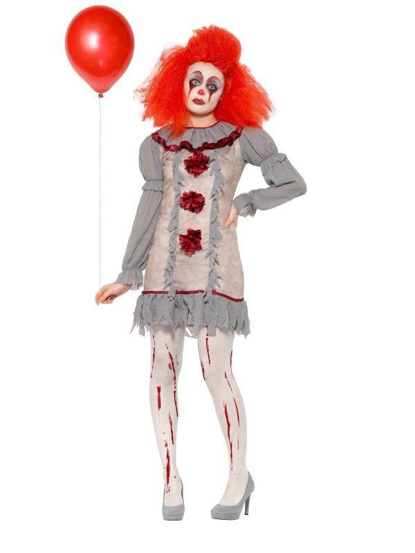 Trieste Horror Pierrot Clown Vrouw Kostuum