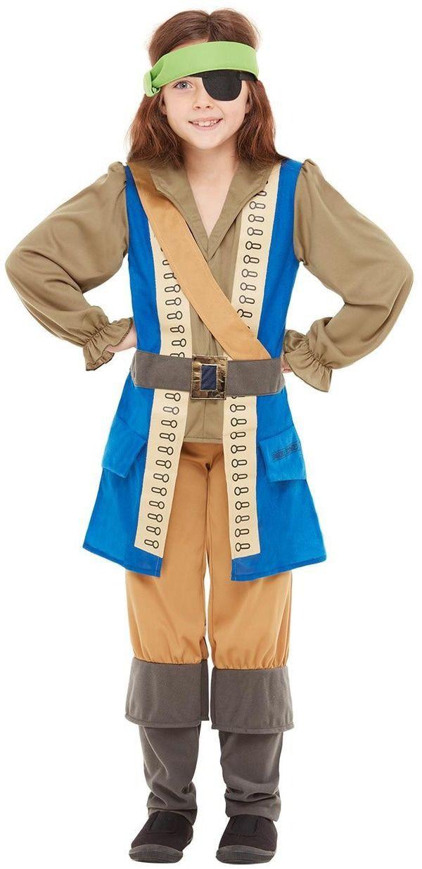 Horrible Histories Waanzinnig Om Te Weten Kapitein Piraat Jongen Kostuum