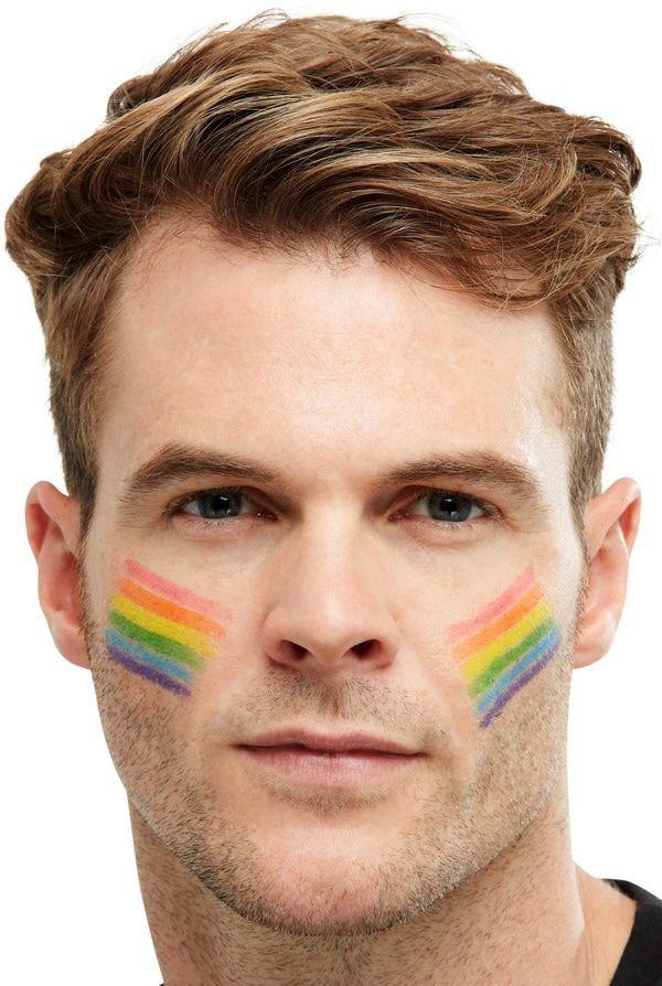 Feestelijke Festival Regenboog Make-Up Stick