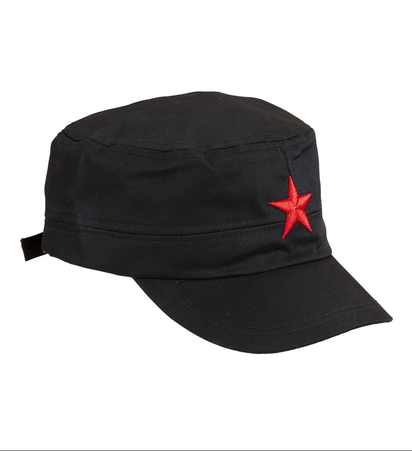 Communistische Zwarte Cap Met Rode Ster