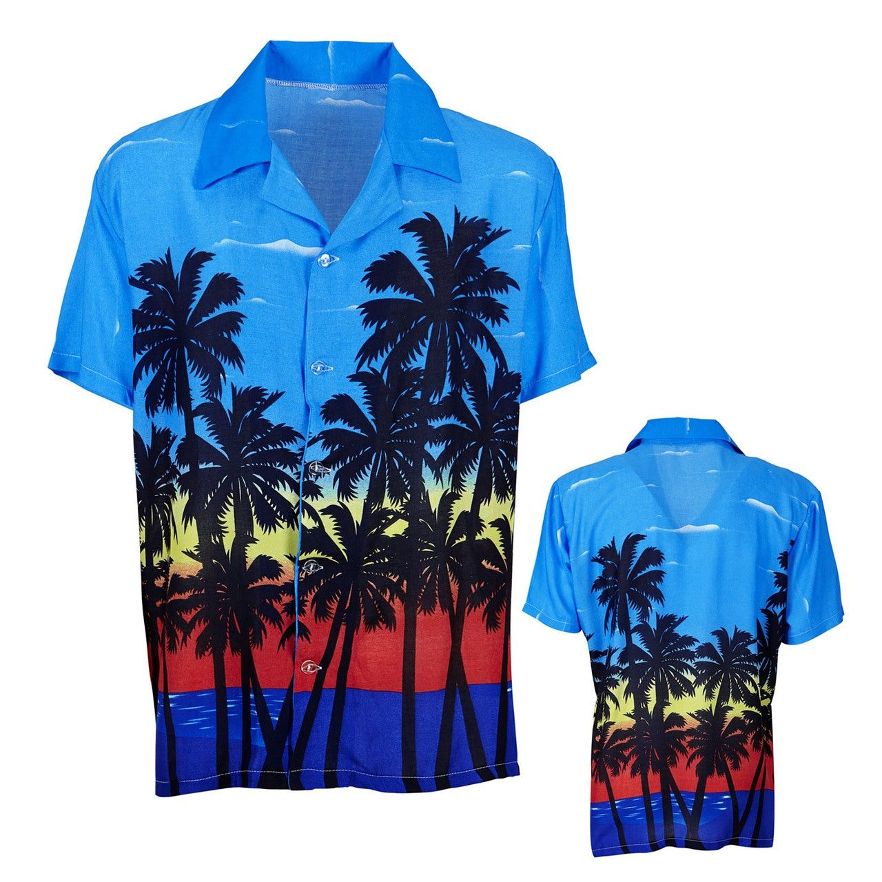 Caribbean Sunrise Hawaiishirt Palm Beach Man