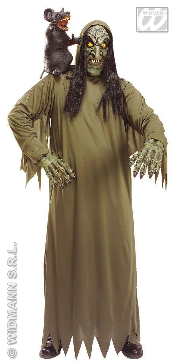 Zompige Groene Heks Kostuum Man