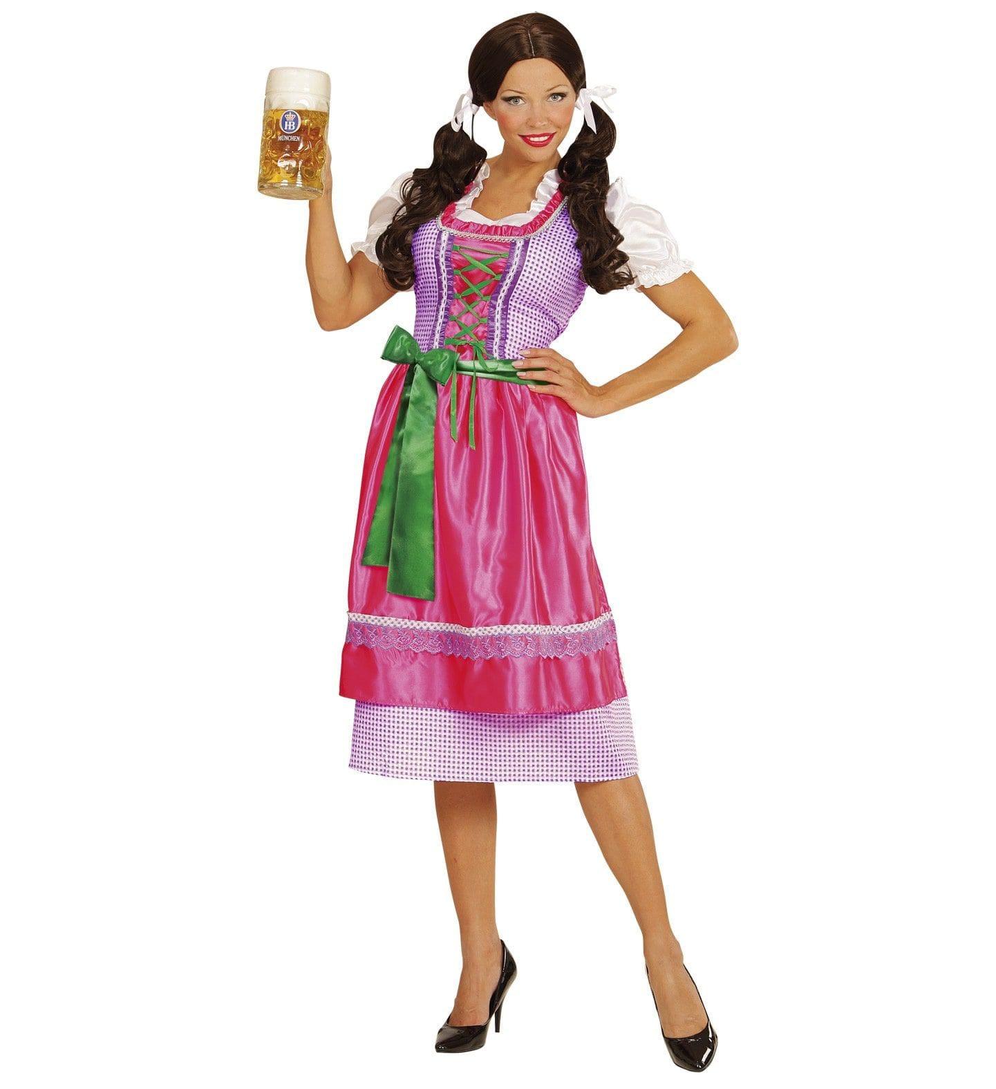Beierse Dirndl Rose / Groen Vrouw Kostuum