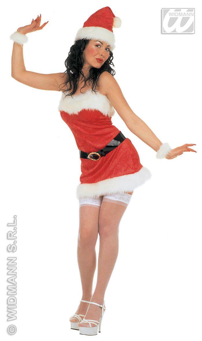 Sexy Kerstvrouw Fluweel All I Want For X-Mas Kostuum