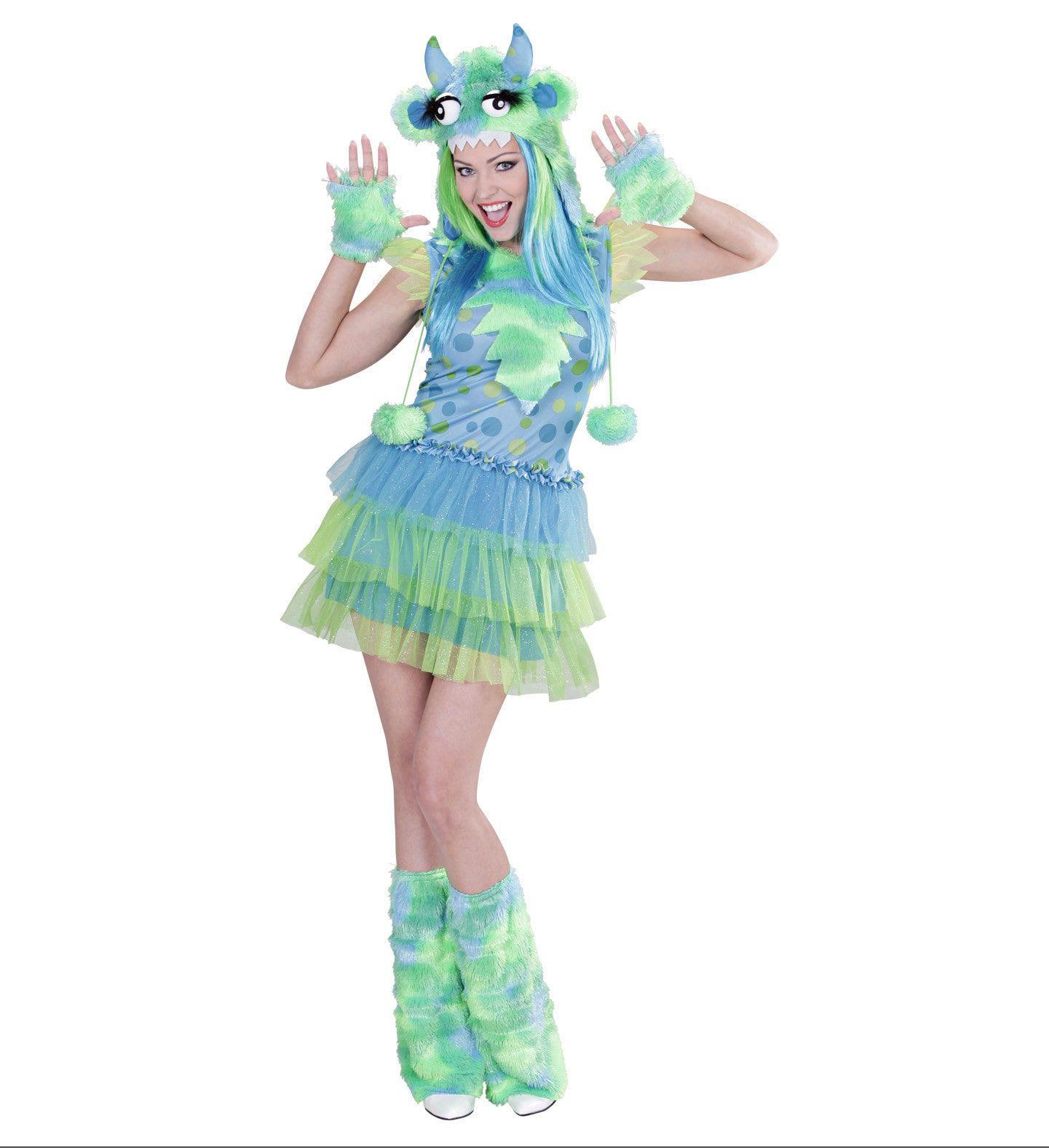 Groen Monster Meisje Ms Comic Strip Vrouw Kostuum
